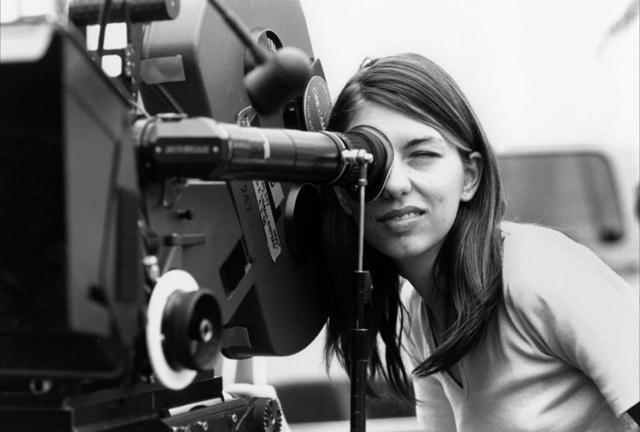 Sofia Coppola on set